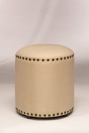 Laura Backless Vanity Stool - Cream Fabric Product Image