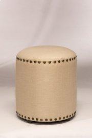 Laura Backless Vanity Stool - Cream Fabric Product Image