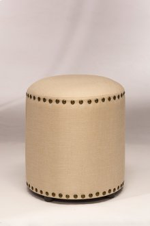 Laura Backless Vanity Stool - Cream Fabric