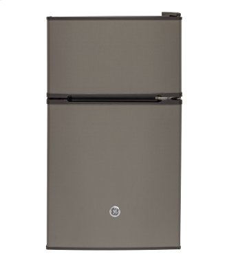 GE Double Door Compact Refrigerator 3.1 cu ft Slate