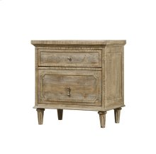 Interlude - 2 Drawer Nightstand W/power Outlet-sandstone Finish