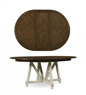 Echo Park Round Dining Table - Huston's Arroyo/aged Canvas