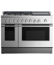 """Dual Fuel Range 48"""", 5 Burners with Griddle"""