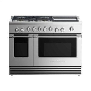 "Fisher & PaykelDual Fuel Range 48"", 5 Burners with Griddle"