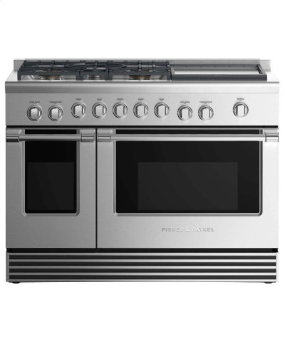 "Dual Fuel Range 48"", 5 Burners with Griddle Product Image"