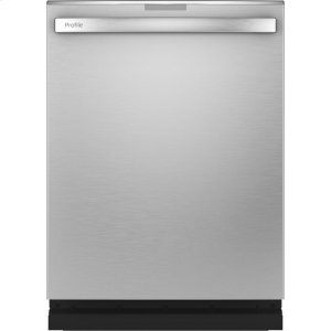 GE ProfileSmart Stainless Steel Interior Dishwasher with Hidden Controls