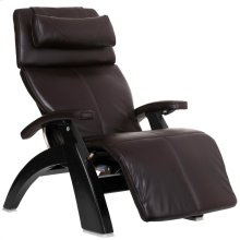 """Perfect Chair PC-LiVE """" - Espresso Premium Leather - Matte Black"""
