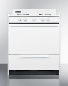 """White Gas Range With Sealed Gas Burners and Electronic Ignition In 30"""" Width; Replaces Wtm2103f"""