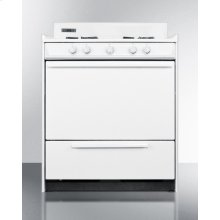 "White Gas Range With Sealed Gas Burners and Electronic Ignition In 30"" Width; Replaces Wtm2103f"