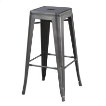"Backless Barstool 30""-metal-gunmetal Finish"