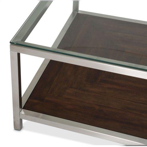 Diversey Rectangular Cocktail Table W/glass Top