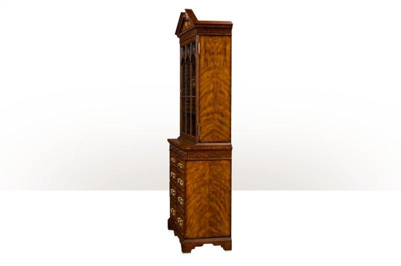 Hidden Additional Gothic Astragals Bar Curio Cabinet