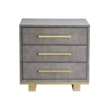 Miranda 3 Drawer Nightstand