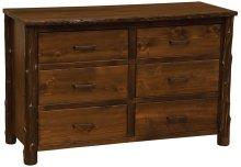 Six Drawer Dresser - Modern Cedar - Premium