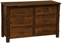 Six Drawer Dresser Modern Cedar, Value