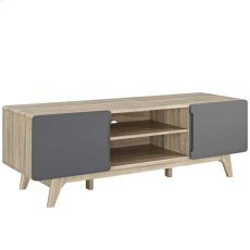 "Tread 59"" TV Stand in Natural Gray Product Image"