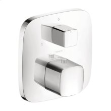 Chrome PuraVida Thermostatic Trim with Volume Control and Diverter