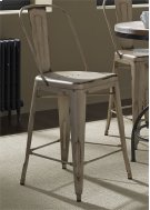 Bow Back Counter Chair - Vintage White 30 Product Image