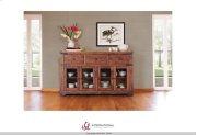 """70"""" Console 3 drawer, 4 Glass Doors Product Image"""