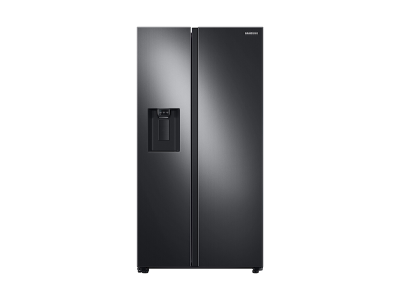 Samsung27.4 Cu. Ft. Large Capacity Side-By-Side Refrigerator In Black Stainless Steel