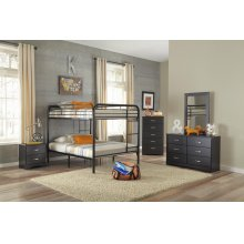 Black Full/Full Bunkbed