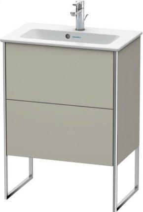 Vanity Unit Floorstanding Compact, Taupe Satin Matt Lacquer