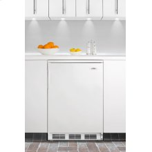 Commercially approved built-in undercounter all-refrigerator with automatic defrost
