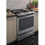 "GE ®30"" Slide-In Electric Convection Range"