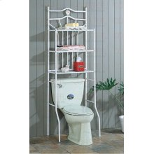 "SHELF/BATHROOM PORCELAIN HEART MTL WHT 68""H"""