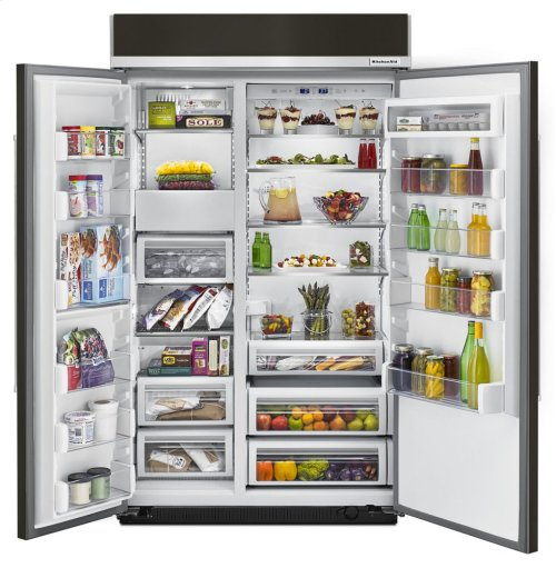 30.0 cu. ft 48-Inch Width Built-In Side by Side Refrigerator with PrintShield Finish - Panel Ready