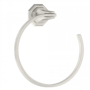 Satin Nickel Perrin & Rowe Deco Wall Mount Towel Ring