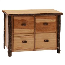 Four Drawer File Cabinet Natural Hickory