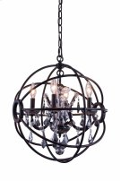 """1130 Geneva Collection Chandelier D:17"""" H:19.5"""" Lt:4 Dark Bronze Finish (Royal Cut Silver Shade Crystals) Product Image"""