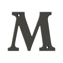 "4"" Residential Letter M - Oil-rubbed Bronze"