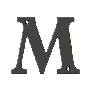 "4"" Residential Letter M - Oil-rubbed Bronze Product Image"