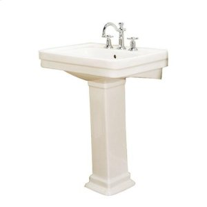 """Sussex 550 Pedestal Lavatory - 8"""" Widespread / Bisque Product Image"""