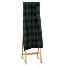 Green & Black Buffalo Plaid Knit Throw.