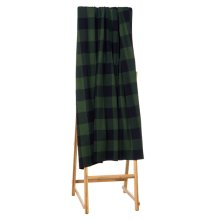Green & Black Buffalo Plaid Knit Throw.
