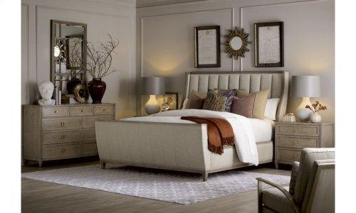 Cityscapes King Chelsea Upholstered Shelter Sleigh Bed