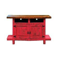 Red 2 Door TV Stand