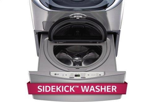 1.0 cu ft capacity SideKick Pedestal Washer, LG TWIN Wash Compatible - Graphite