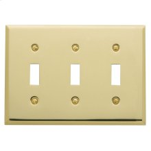Polished Brass Beveled Edge Triple Toggle