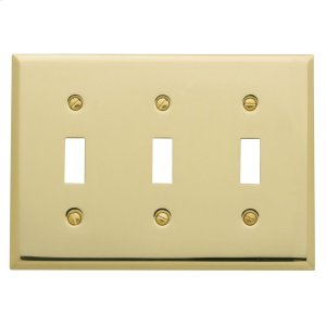 Polished Brass Beveled Edge Triple Toggle Product Image