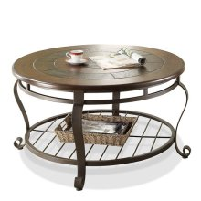 Eastview Round Coffee Table Tuscan Sun finish