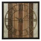Framed Slat Wall Clock Product Image