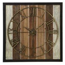 Framed Slat Wall Clock.
