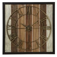 Framed Slat Wall Clock