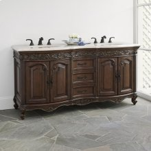 Provincial Double Sink Chest - Dark