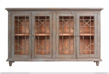 HOT BUY CLEARANCE!!! 70in Console w/4 doors & wire on back panel-Turquoise Finish