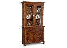 Florence Buffet&Hutch w/2 Wood Doors & 2/Glass Doors & 2/Dwrs & Glass Gables&Shelves & LED Lighting